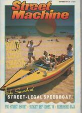 STREET MACHINE MAGAZINE  SEPTEMBER 1987 VOL.9 NO.5  PRO STREET ESCORT    LS