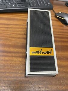 Vintage 1980's Carlsbro Wah-Wah Pedal Solarsound Colorsound Original Vox Style