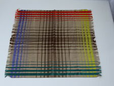 """Sulka"" Made in Switzerland, Real Silk pocket square size 22"" x 22"" Fringed Edge"
