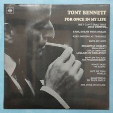 TONY BENNETT~FOR ONCE IN MY LIFE~1967 UK 10-TRACK MONO VINYL LP RECORD [A1/B1]
