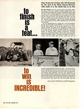 1970 MEXICAN 1000 OFF ROAD RACE ~ ORIGINAL 4-PAGE ARTICLE
