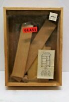 Vintage NOS Wood Glass Shadow Box Ecology Collector Kit Display Insect, Mineral
