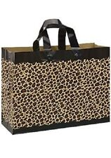 Frosty Plastic Shopping Bags 100 Leopard Cheetah Merchandise Frosted 16 x 6 x 12