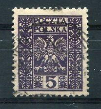 POLOGNE, 1928-29, timbre 346, ARMOIRIES, oblitéré