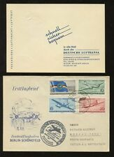 FLIGHT GERMANY DDR 1956 LUFTHANSA SET...SCHONEFELD to MOSCOW ILLUST.PMK + COVER