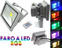 Faro RGB,luce ambientale a led,10W.Illuminazione luce multicolor con telecomando