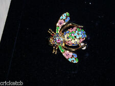 """Spring"" Bee with Crystals New ""Sale"" Gorgeous Joan Rivers Four Seasons of Bees"