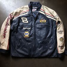 Men's Wilsons Leather Chase Dale Earnhardt Jr. Budweiser Leather NASCAR Jacket L