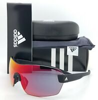 NEW ADIDAS Arriba Sunglasses A422/00 6054 00/00 Black Matte Red Mirror Shield