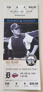 Bill Freehan 1999 Tiger Stadium Final Season Full Ticket Stub