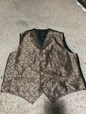 Scully Western Wear Men's Gold And Black Paisley Country Western Cowboy Vest