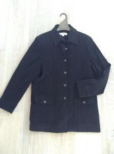 KATIES black coat EXCELLENT CONDITION with pockets slight stretch size 16