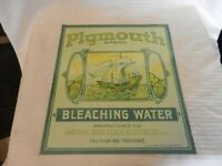 Plymouth Brand Bleaching Water Antique Finish Metal Wall Sign
