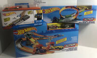 Lot Of 3 Action Toys Hot Wheels Mega Rally Set, Loop Star Launcher & Race Case