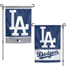 """Brand New MLB Los Angeles Dodgers  2 Sided 12"""" X 18"""" Garden Flag Wincraft"""