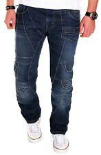 JEANS Uomo Designer Clubwear Vintage Destroyed tasche w29-w44 rc-2009