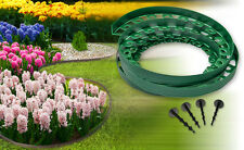 Plastic garden edging border,New green edging 10meters ,paths,lawn+60 pegs