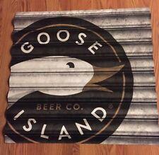 *NEW* GOOSE ISLAND - CORRUGATED METAL PUB BAR BEER SIGN - Bourbon County