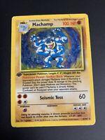 Machamp 1999 Pokemon 1st Edition Base Set Holo 8/102. Heavily Damaged