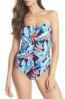 Tommy Bahama Women's 176766 One-Piece Swimsuit Navy Size 10