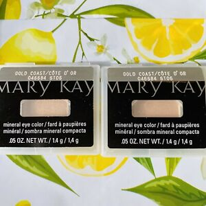Lot Of 2 New Full Size Mary Kay Mineral Eye Color Shadows GOLD COAST