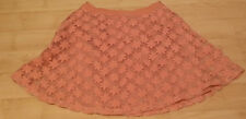 LADIES DUSTY PINK SKIRT WITH OVERSKIRT WITH FLOWER DETAIL TOPSHOP SIZE 12
