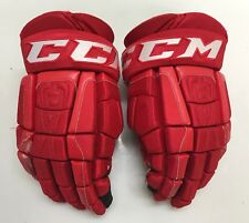 "CCM U+ CL Crazy Light 14"" Pro Stock Hockey Gloves Red Hurricanes 8539"