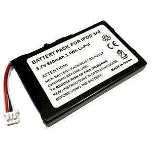 Battery for Apple iPod 3rd Generation 3 Gen 15GB M9460LL/A 20GB M9244LL/A New