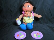 Big Sister DORA The Explorer With Baby Brother 2004 2 food plates