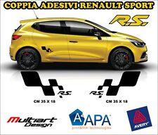 KIT 2 ADESIVI sticker PER CLIO RS TROPHY, RENAULT SPORT CLIO MEGANE TWINGO