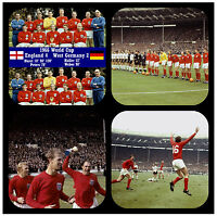 1966 WORLD CUP - FUN NOVELTY COASTERS - EASY CLEAN - NEW - GIFT IDEAS / XMAS