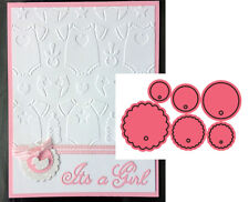 Tags 3 die cut set B262 by Cheery Lynn Designs Dies circle round scalloped