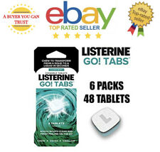 48 x Listerine Go! Tabs Chewable Tablets Transform from Solid to Liquid in Sec