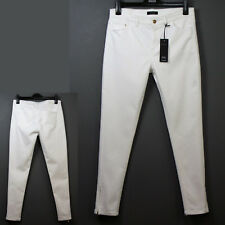 M&S AUTOGRAPH Mid Rise SKINNY Zip Ankle JEANS ~ Size 14 Med ~ SOFT WHITE