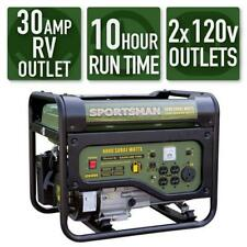 Portable Generator with RV Outlet Gas Powered Emergency Backup Supply Outdoor