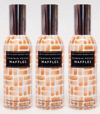 3 Bath & Body Works PUMPKIN PECAN WAFFLES Mini Room Spray Perfume Air Freshener