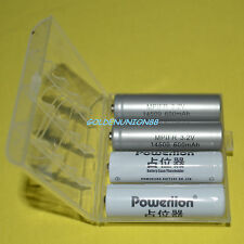 2X LiFePO4 LFP IFR 14500 3.2V 600mAh AA consumer battery +2X spacer +1X case