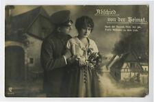 WWI ww1 First World War One 1 GERMAN SOLDIER w/ Sweetheart photo postcard