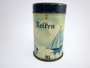kleine antike Blechdose Nelken von Kaiser's Kaffee Geschäft, vintage Deckel Dose