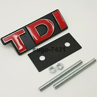Car Auto Red TDI Grill Badge for Jetta Golf Scirocco Touareg MK Front Grille Lot