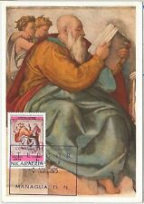 57444  -   NICARAGUA - POSTAL HISTORY: MAXIMUM CARD 1975 - ART Michelangelo