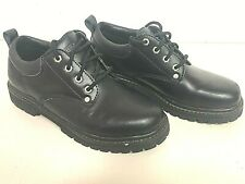 Mens Skechers Black SN7111 Alley Cat Oxford Work or Casual Shoes Size 9M