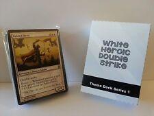 MTG Standard & Theme Decks - White Heroic Double Strike Magic the Gathering