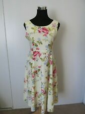 7a4dd019bf8 Chadwick s Real Comfort Yellow Floral Linen Blend Summer Dress EUC ...