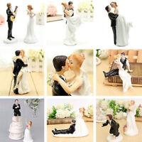 Romantic Resin Wedding Cake Topper Figure Bride & Groom Couple Bridal Decor