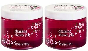 2 BODYCOLOGY CHERRY BLOSSOM CLEANSING SHOWER GEL JELLY FREE SHIPPING USA NEW