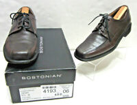 BOSTONIAN POLLINO MENS 9.5 BROWN/BURGUNDY LEATHER BICYCLE TOE FIRST FLEX OXFORDS