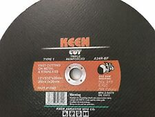 Box of 5- 12 in High-Speed Metal-Cutting Cut-Off Wheel KEEN ABRASIVES 18003
