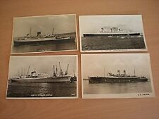 4 Postcards -RMMV Stirling Castle/ S.S.Vienna / S.S. St. Patrick/ RMS Queen Mary