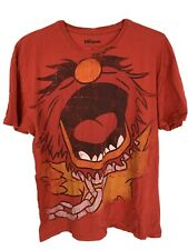 Animal The Muppets Large Print Red T-Shirt Size XL